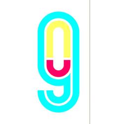 Alphabet in disco style vector