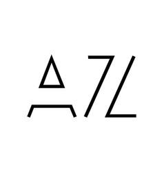 Az letter initial logo design vector