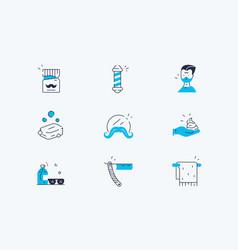 barber salon set vector image