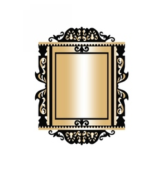 Baroque golden rococo frame decor vector