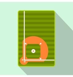Baseball field flat icon vector