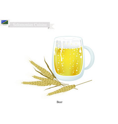 Beer a popular dink in solomon islands vector