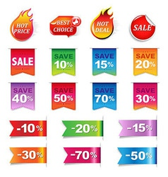 Big Sale Colorful Labels Set vector image