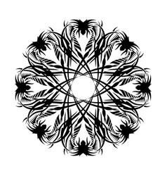 Black tribal tattoo 0021 vector