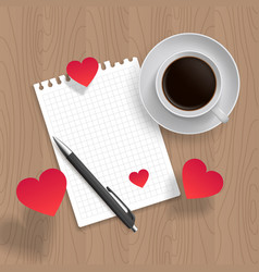 blank template for romantic message vector image