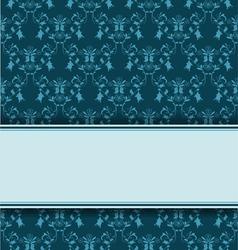 blue damask line vector image