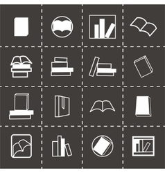 Books icon set vector