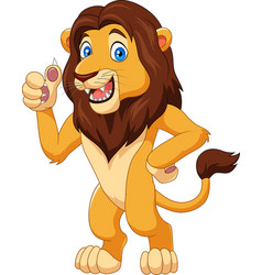 cartoon lion giving thumbs up vector image