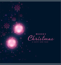christmas festival dark background with glowing vector image