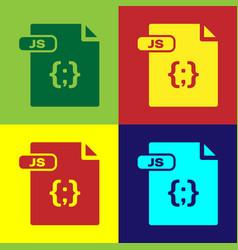 Color js file document download js button icon vector