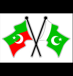 cross pkistan and pti flag vector image
