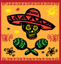 Day of the dead party vector