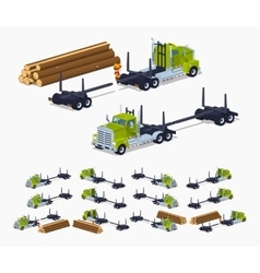 Empty log truck vector