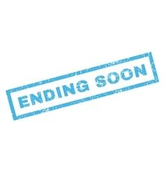 Ending Soon Rubber Stamp vector