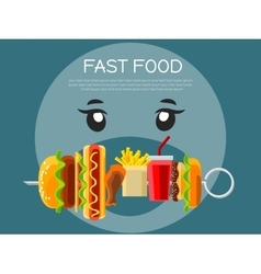 Fast food concept banner vector