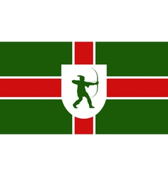 Flag of Nottinghamshire vector