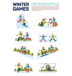 flat infographic of winter vector image