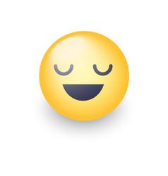 fun cartoon emoji smiley icon face happy smiling vector image