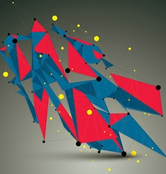 Geometric bright polygonal structure with lines vector