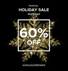 Gold glitter snowflake sparks sale 50 off vector
