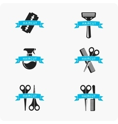 Hair cut accessories vector image