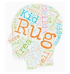 How To Buy Kid s Rugs text background wordcloud vector image vector image