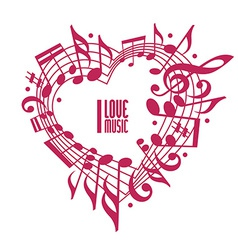 I love music concept single color design vector