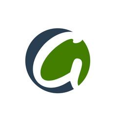 initial g lettermark circular shape symbol design vector image