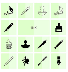 ink icons vector image