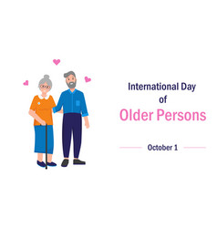 International day older persons concept vector