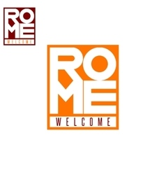 Italian city Rome word box tourism poster vector image