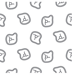 Meat steak line icon seamless pattern vector