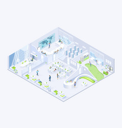 modern business company office isometric vector image