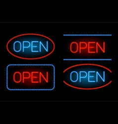 Neon open set vector