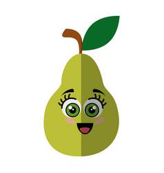 Pear fruit icon vector