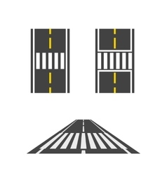 Pedestrian crossing on road top and perspective vector