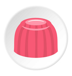Pink fruit jelly icon circle vector