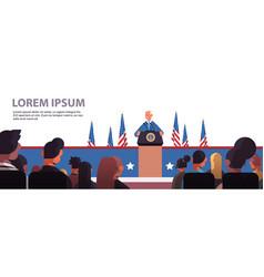 president democrat winner united states vector image