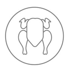Raw chicken line icon vector image