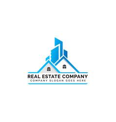 Real estate comapny logo vector