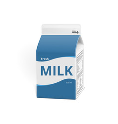 realistic 3d milk carton packing isolated on white vector image