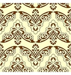 Retro floral wallpaper vector