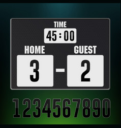 scoreboard stadium electronic sports display vector image
