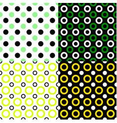 seamless geometric circle pattern background sets vector image