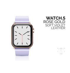 smart watch with soft violet leather bracelet vector image