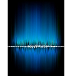 Sound waves oscillating on black EPS 8 vector image