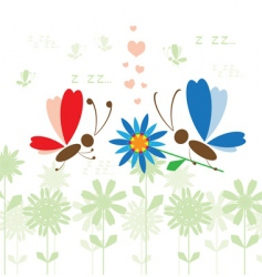 summer background butterfly vector image