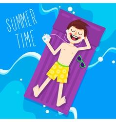 Summer Time Charakter vector image