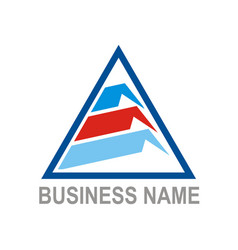 triangle data technology company logo vector image