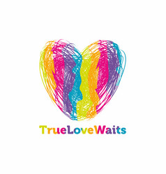 True love waits print vector